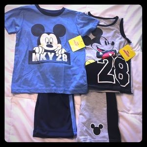 Mickey Mouse Matching Short Sets NWT